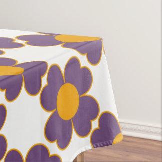 完全なプラムおよびカボチャハートの花 テーブルクロス