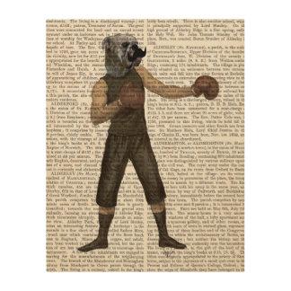 完全なボクシングのブルドッグ ウッドウォールアート