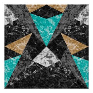 完全なポスター大理石の幾何学的な背景G430 ポスター