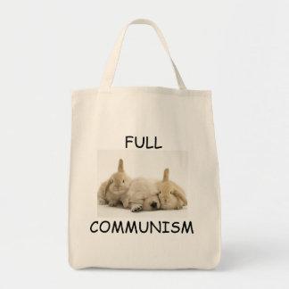 完全な共産主義の子犬およびバニーのトート トートバッグ