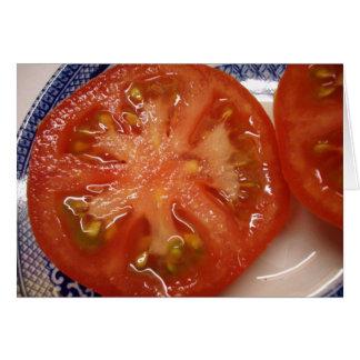 完全な切れのトマト カード