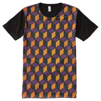 完全な前部立方体のワイシャツ オールオーバープリントT シャツ