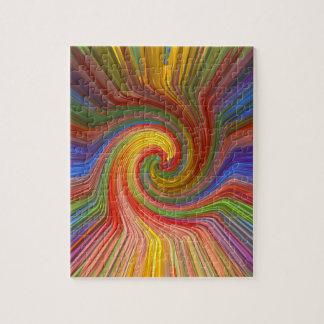 完全な回転の虹写実的な愛ギフトユニークな07 ジグソーパズル