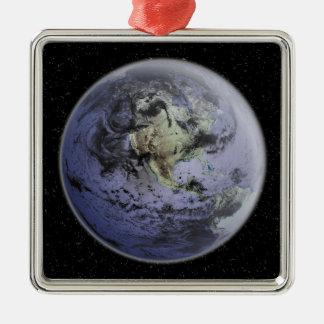 完全な地球のデジタルによって高められるイメージ メタルオーナメント