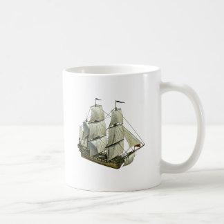 完全な帆が付いているコルベットのヨット コーヒーマグカップ