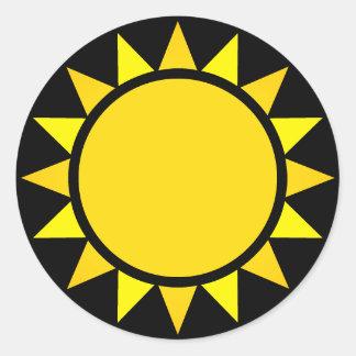 完全な日曜日Emoji ラウンドシール