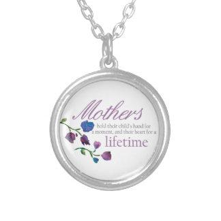 完全な母の日のネックレス-花柄 シルバープレートネックレス