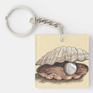 完全な真珠の貝殻 キーホルダー