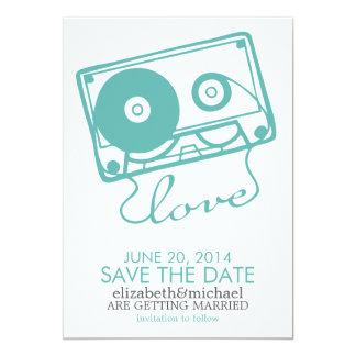 完全な組合せの結婚式の保存日付{水} カード