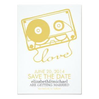 完全な組合せの結婚式の保存日付{黄色} カード