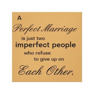 完全な結婚 キャンバスプリント