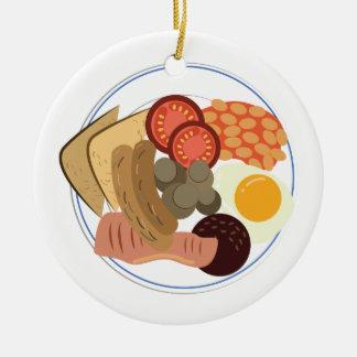完全な英国式朝食 セラミックオーナメント