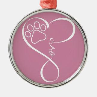 完全な足の心拍猫犬愛飾り金具 メタルオーナメント