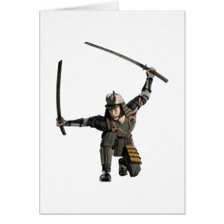 完全な隠れ家の2本の剣を持つ武士 カード