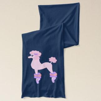 完全にピンクのプードル スカーフ