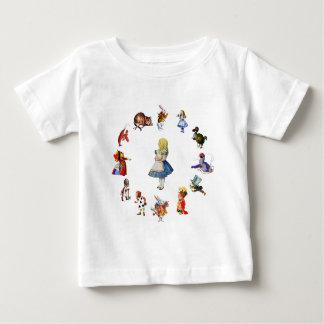 完全に不思議の国のアリスのまわりで ベビーTシャツ