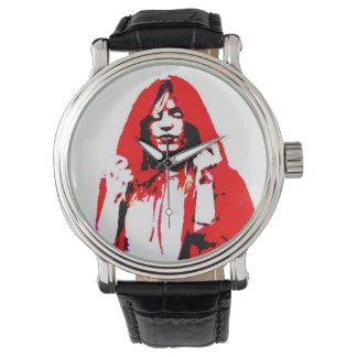 完全に死んでいない乗馬フードの腕時計 腕時計