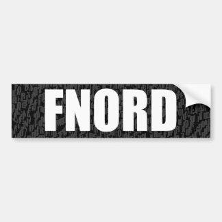 完全に空白のなバンパーステッカー(fnord) バンパーステッカー