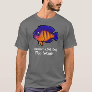 完全に魚人(angelfish 1) tシャツ