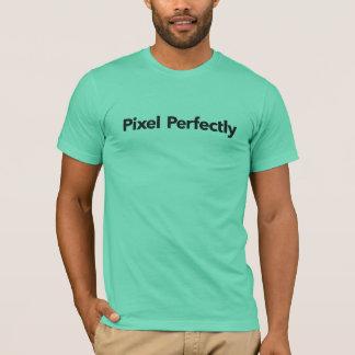 完全の人のピクセルロゴタイプT Tシャツ