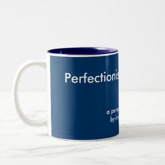 完全主義的な写真のマグのテンプレート ツートーンマグカップ