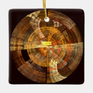 完全性の抽象美術の正方形のオーナメント セラミックオーナメント
