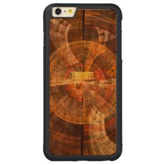 完全性の抽象美術 CarvedチェリーiPhone 6 PLUSバンパーケース