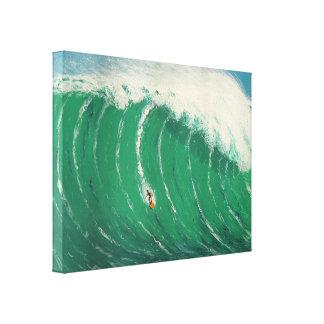 完成して下さい波優れたWrappedCanvas (光沢)を キャンバスプリント