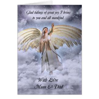 宗教お母さん及びパパの天使のクリスマスカード カード