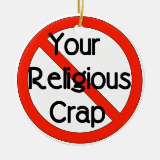 宗教がらくた無し セラミックオーナメント
