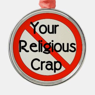 宗教がらくた無し メタルオーナメント