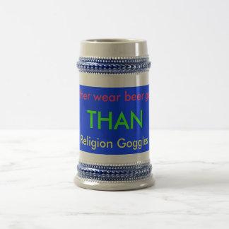 宗教のゴーグル ビールジョッキ