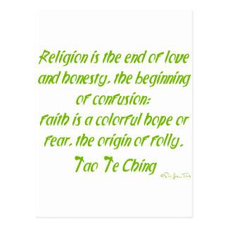 宗教のタオTe Ching ポストカード