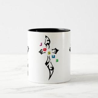 宗教の十字 ツートーンマグカップ