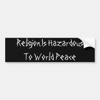 宗教の危険 バンパーステッカー
