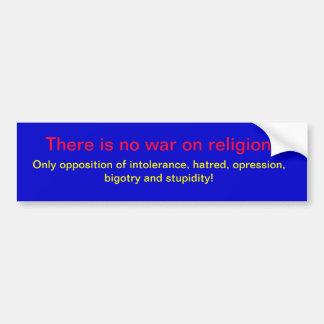 宗教の戦争無し バンパーステッカー