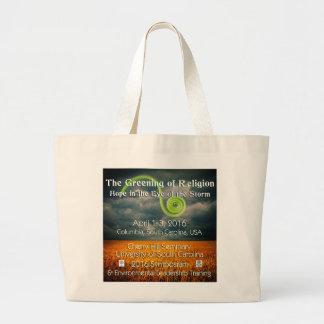 宗教の緑化 ラージトートバッグ