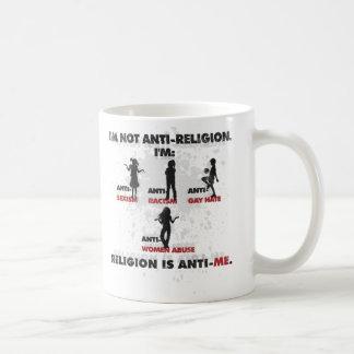 宗教はアンチ私です コーヒーマグカップ