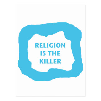 宗教はキラー、青い.pngです ポストカード
