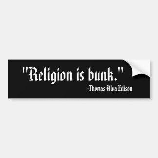 宗教は寝台です バンパーステッカー