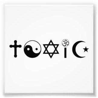 宗教は有毒なFreethinkerです フォトプリント