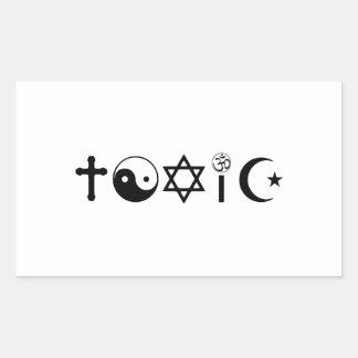 宗教は有毒なFreethinkerです 長方形シール