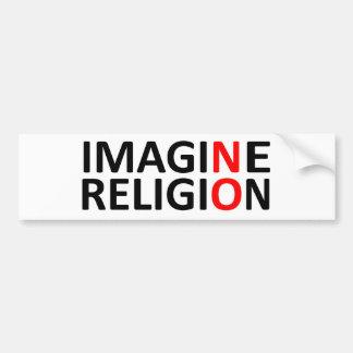 宗教を想像しないで下さい バンパーステッカー