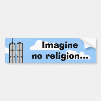 宗教を…想像しないで下さい バンパーステッカー