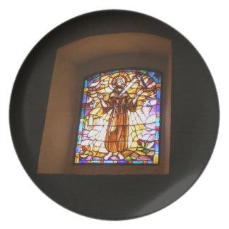 宗教ステンドグラス窓のプレート プレート