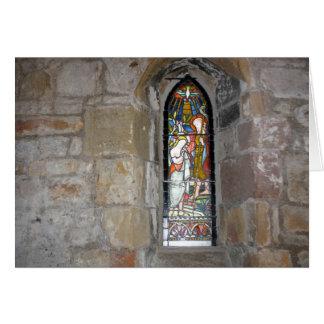 宗教ステンドグラス窓の招待状 カード