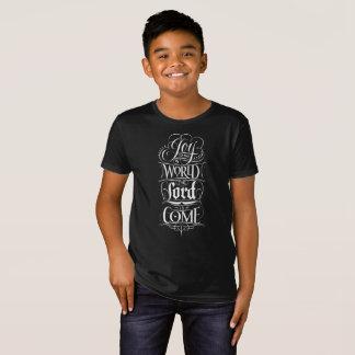 宗教世界のクリスマスの黒板への喜び Tシャツ