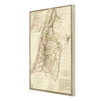 宗教中東地図書の地図 キャンバスプリント