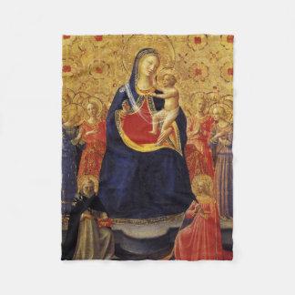 宗教母およびバンビーノの旧式な色 フリースブランケット
