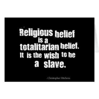 宗教的信念は全体主義の確信です カード
